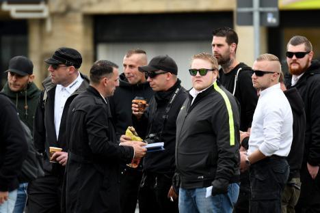 "Neonazis vom ""Kollektiv Nordharz"" am 12.08.2017 in Goslar"