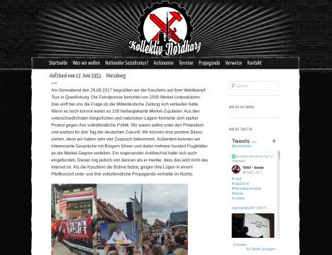 """Screenshot der """"Kollektiv Nordharz""""-Webseite"""