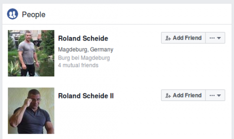 Screenshot Facebook-Profile von Roland Scheide
