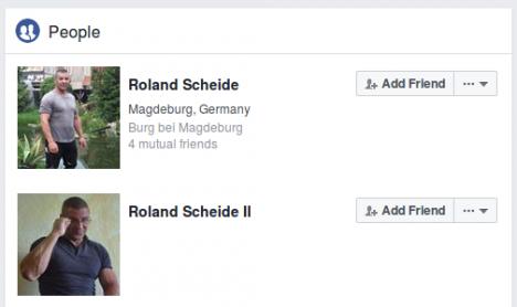 Screenshot Facebook-Profile von Roland Scheide